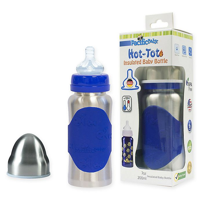 Alternate image 1 for Pacific Baby Hot-Tot 7 fl. oz. Wide-Neck Insulated Baby Bottle