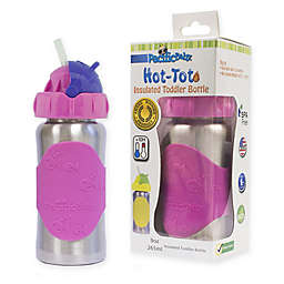 Pacific Baby Hot-Tot 9 fl. oz. Stainless Steel Insulated Toddler Bottle in Silver/Pink
