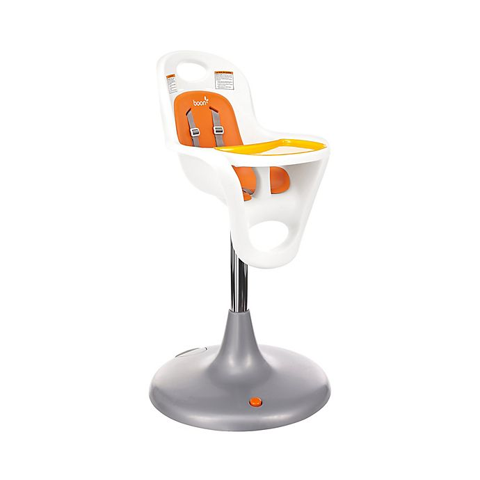 Alternate image 1 for Boon Flair Pneumatic Pedestal High Chair in Orange