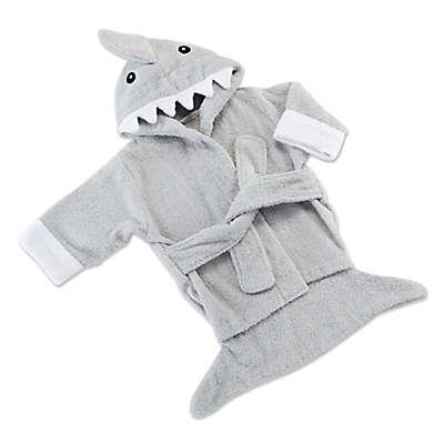 Baby Aspen Size 0-9M Let the Fin Begin Shark Bath Robe in Blue