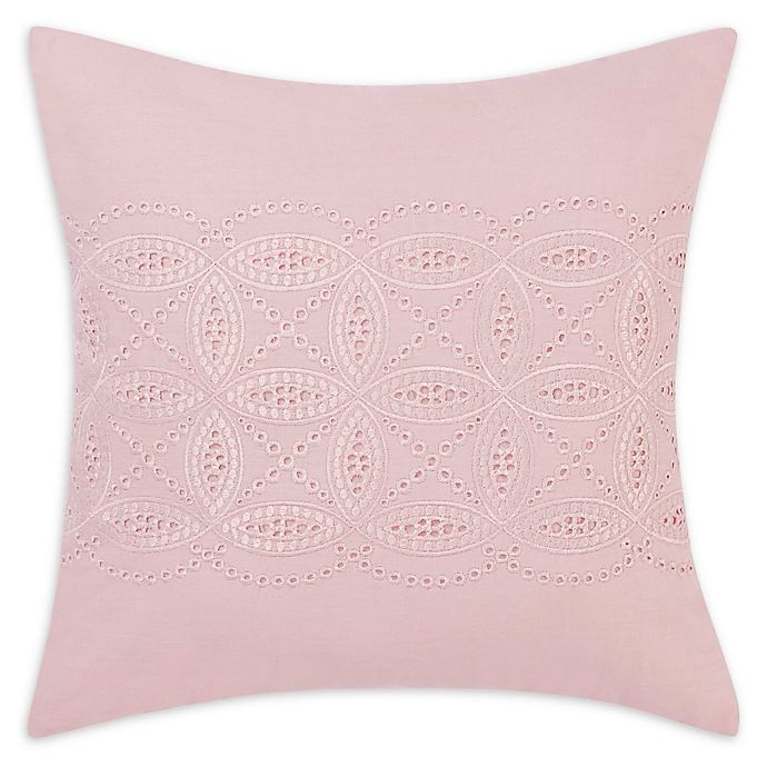 Alternate image 1 for Laura Ashley® Annabella 16-Inch Square Throw Pillow in Pink