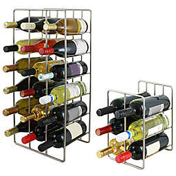Oenophilia Milano Wine Rack in Silver