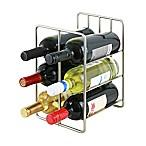 Oenophilia 6-Bottle Milano Wine Rack in Silver