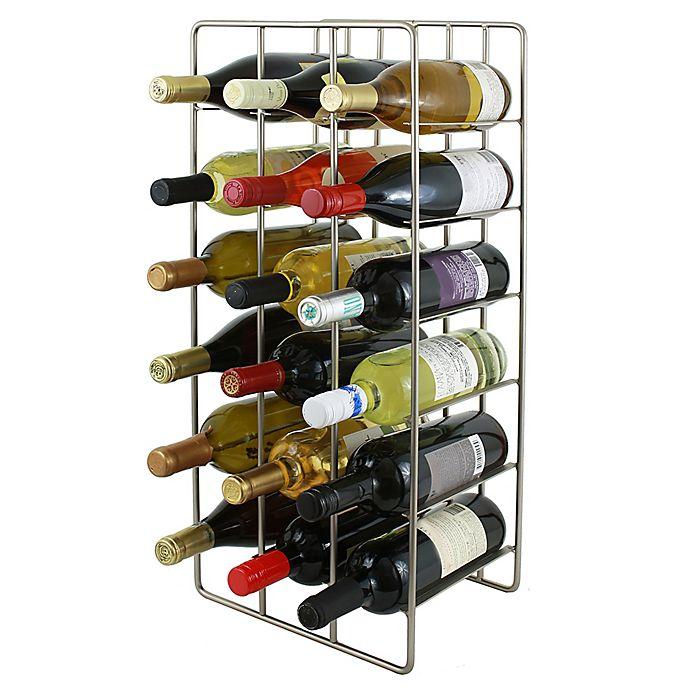 Alternate image 1 for Oenophilia 18-Bottle Milano Wine Rack in Silver