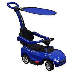 Best Ride On Cars 4-in-1 Maserati Push Car in Blue