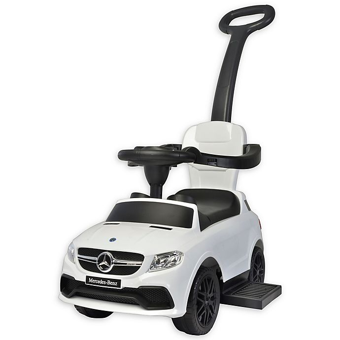 Alternate image 1 for Best Ride On Cars® Mercedes 3-in-1 Push Car in White