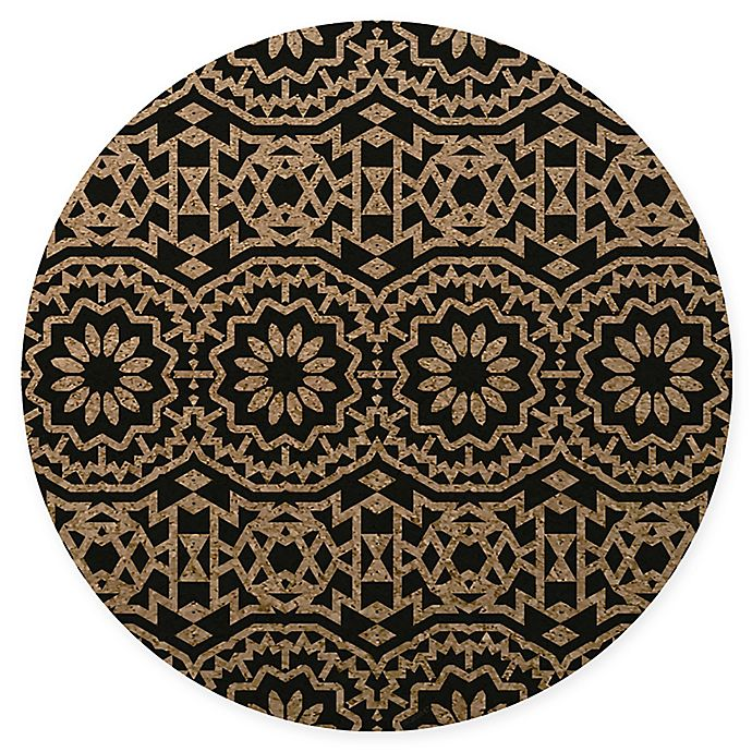 Alternate image 1 for Tribe West Bohemian Cork Round Play Mat in Black