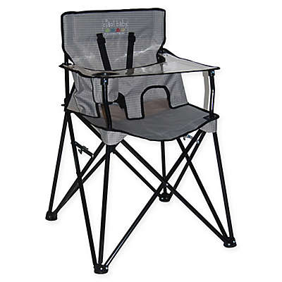 ciao! baby™ Portable High Chair in Grey Check