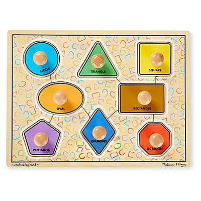 Melissa & Doug® 8-Piece Jumbo Knob Shapes Puzzle