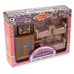 Melissa & Doug® Dollhouse Living Room Furniture Set