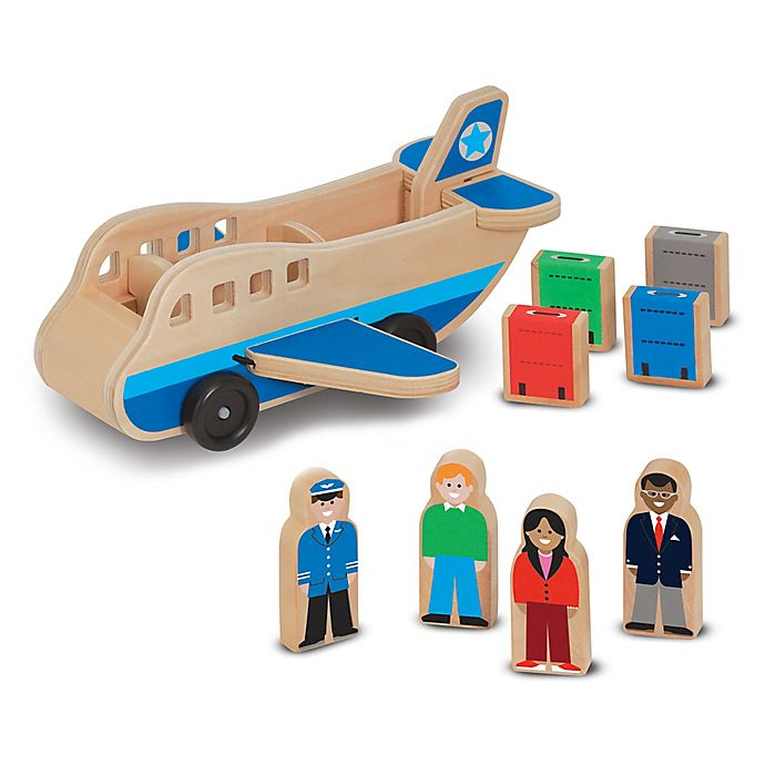Alternate image 1 for Melissa & Doug® Wooden Toy Airplane