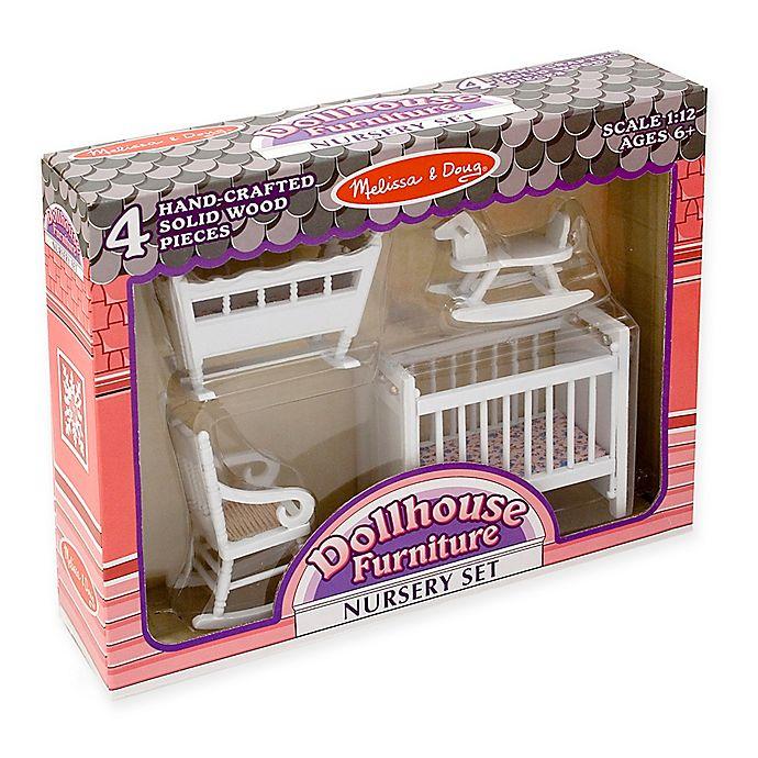 Alternate image 1 for Melissa & Doug® 4-Piece Dollhouse Furniture Nursery Set