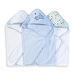 Spasilk® Hooded Towels (Pack of 3) - Whale