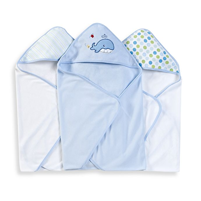 Alternate image 1 for Spasilk® Hooded Towels (Pack of 3) - Whale