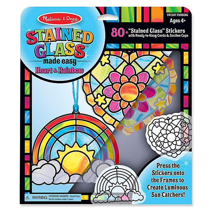 Alternate image 1 for Melissa & Doug® Stained Glass Made Easy Rainbow & Hearts Ornaments