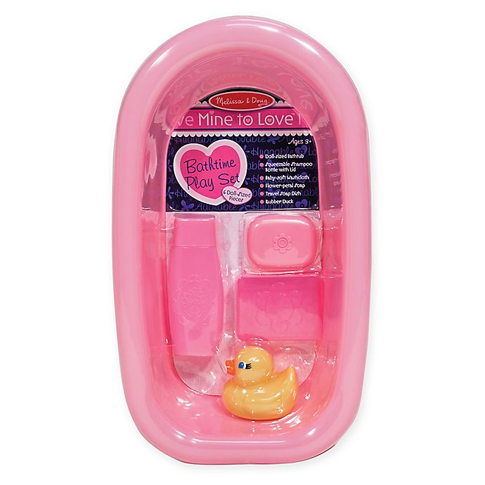 Alternate image 1 for Melissa & Doug® Mine To Love Bathtime Play Set