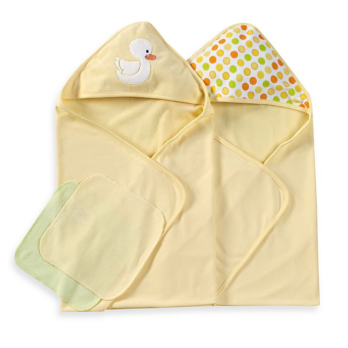 Alternate image 1 for Spasilk® Hooded Towels with Matching Washcloths - Duck