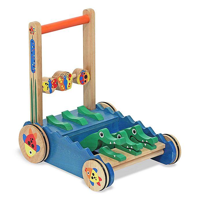 Alternate image 1 for Melissa & Doug® Chomp & Clack Alligator Push Toy