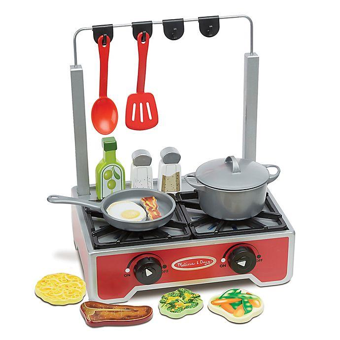 Melissa & Doug® Deluxe 17-Piece Wooden Cooktop Set   buybuy BABY