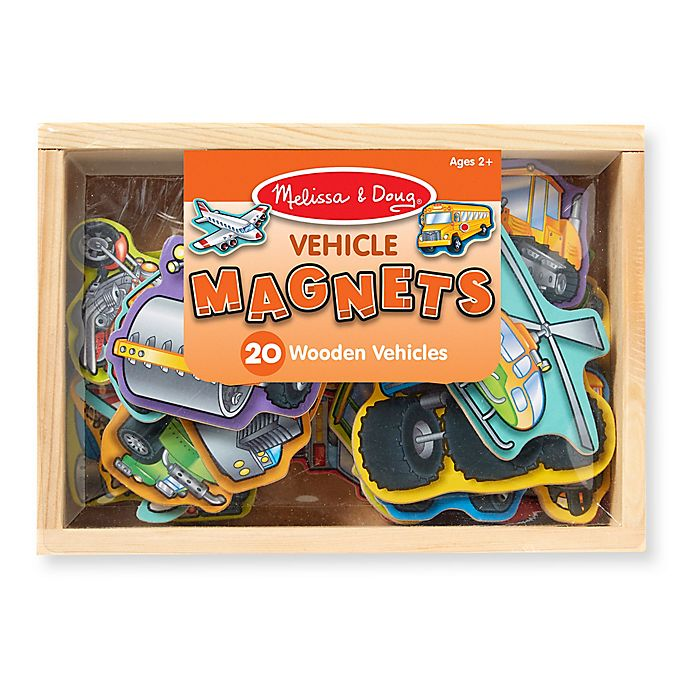 Alternate image 1 for Melissa & Doug® Wooden Vehicle Magnet Set