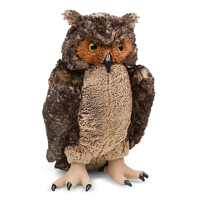 Alternate image 1 for Melissa & Doug® Lifelike Plush Owl Toy