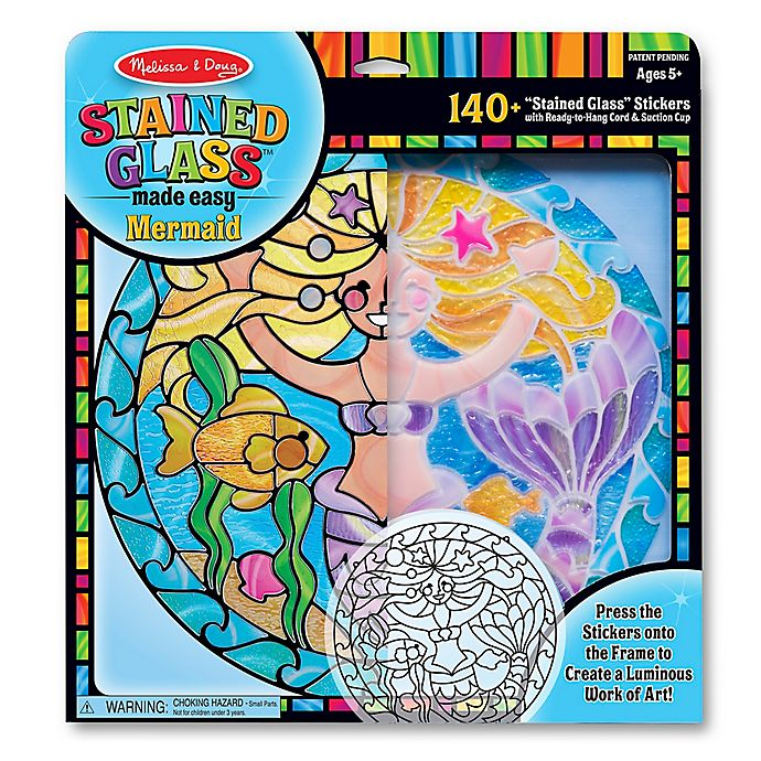 Alternate image 1 for Melissa & Doug® Stained Glass Made Easy Mermaid Craft