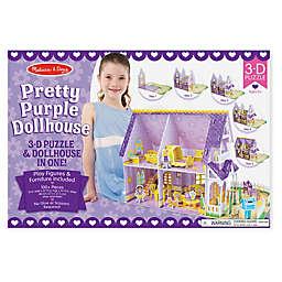 Melissa & Doug® Pretty Purple 3D Puzzle & Dollhouse