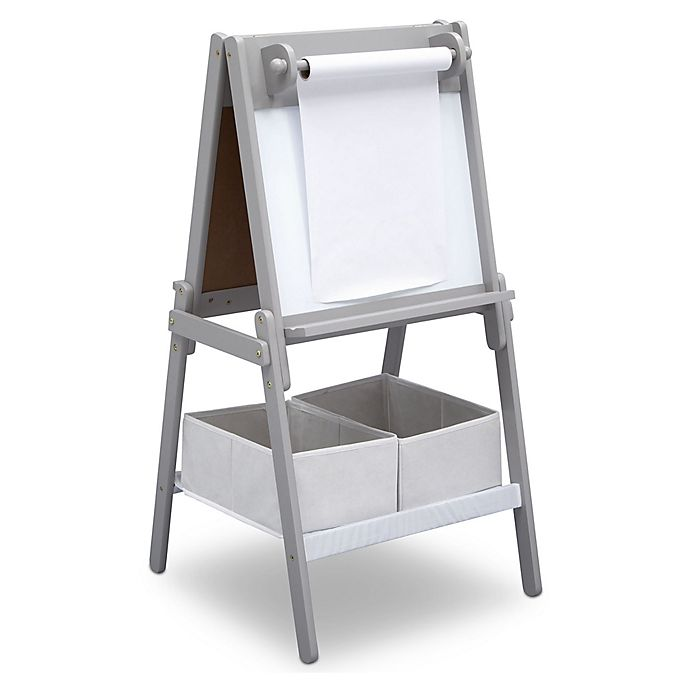 Alternate image 1 for Delta Children MySize Double-Sided Storage Easel in Grey