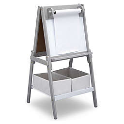 Delta Children MySize Double-Sided Storage Easel in Grey