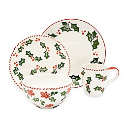 Euro Ceramica Natal Festive Holiday Dinnerware Collection