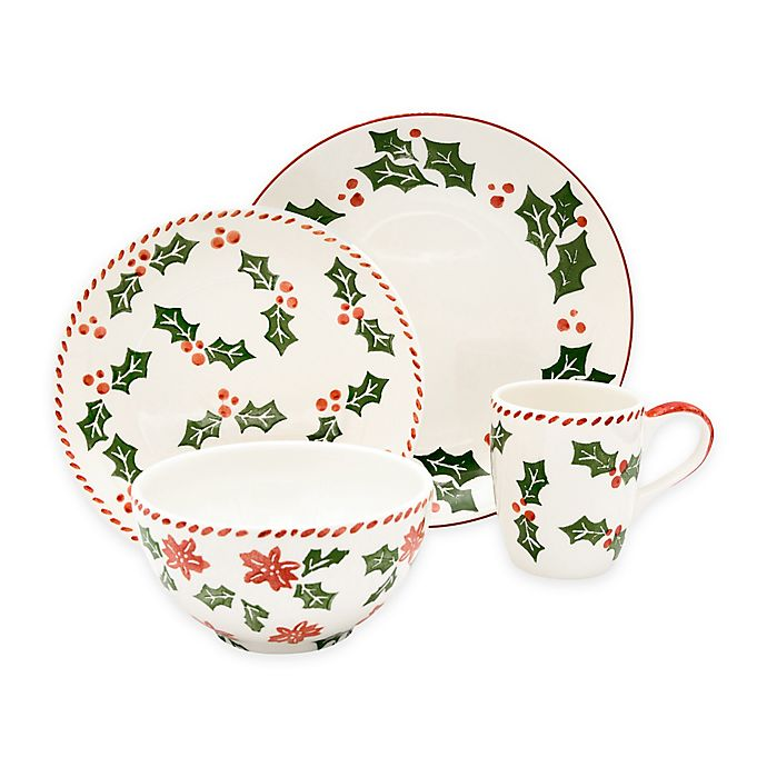 Alternate image 1 for Euro Ceramica Natal Festive Holiday Dinnerware Collection