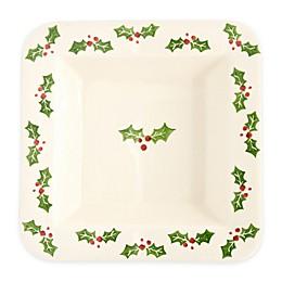 Euro Ceramica Natal Festive Holiday 13.5-Inch Square Platter