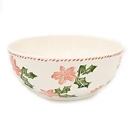 Euro Ceramica Natal Festive Holiday Serving Bowl
