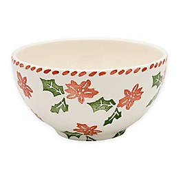 Euro Ceramica Natal Festive Holiday Cereal Bowls (Set of 4)