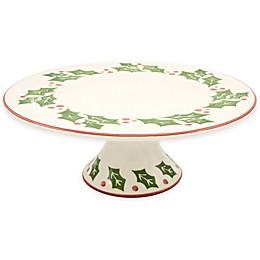 Euro Ceramica Natal Festive Holiday Cake Plate