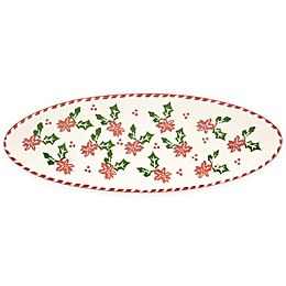 Euro Ceramica Natal Festive Holiday Appetizer Tray