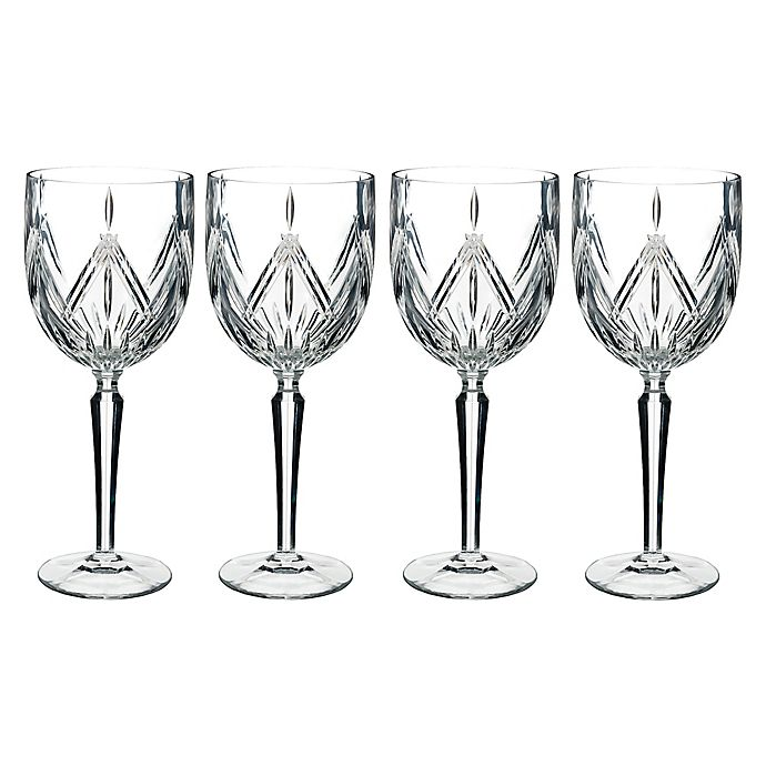 Alternate image 1 for Marquis® by Waterford Lacey Goblets (Set of 4)