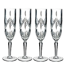 Marquis® by Waterford Lacey Champagne Flutes (Set of 4)