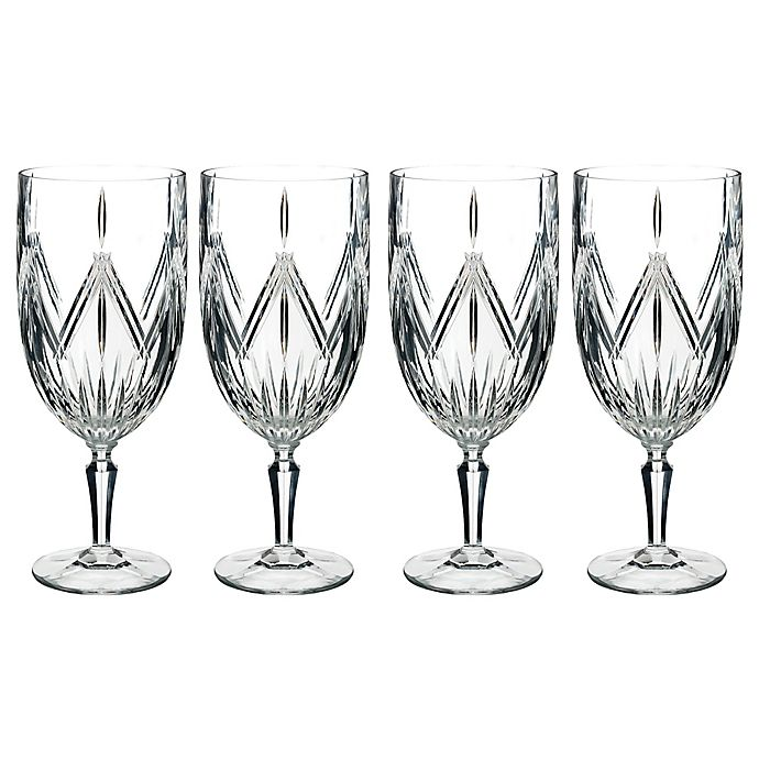 Alternate image 1 for Marquis® by Waterford Lacey Iced Beverage Glasses (Set of 4)