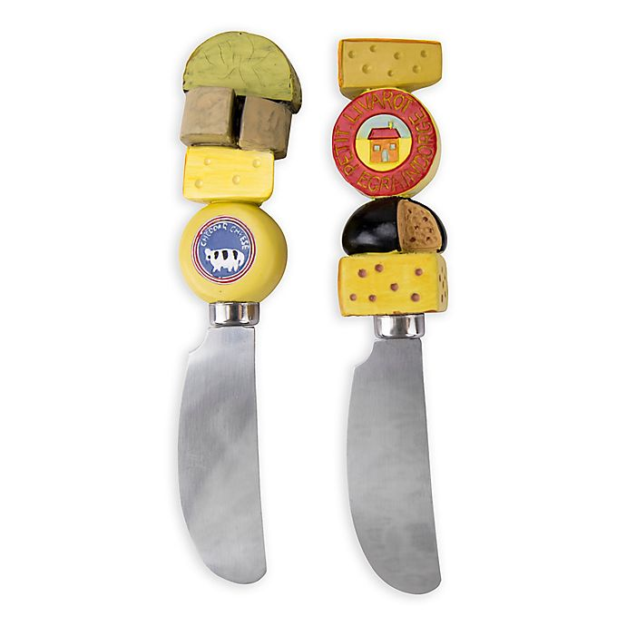 Alternate image 1 for Boston Warehouse® Cheese Spreaders (Set of 2)