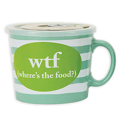 Boston Warehouse® 24oz. WTF Soup Mug with Vented Lid
