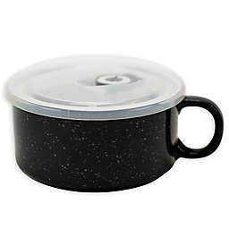 Boston Warehouse Charcoal 22 oz. Covered Soup Mug