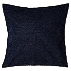 Make-Your-Own-Pillow Chenille 20-Inch Square Throw Pillow Cover in Blue