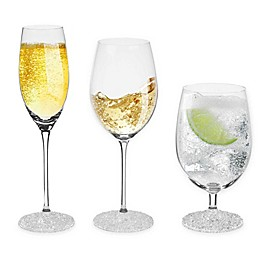 Oleg Cassini Ice Crystals Wine Glass Collection