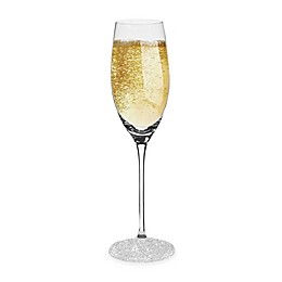 Oleg Cassini Ice Crystals Toasting Flutes (Set of 2)
