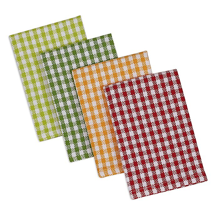 Alternate image 1 for DII Design Imports Heavyweight Peapatch Dishcloth (Set of 4) in Green