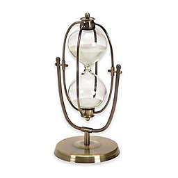 Ridge Road Décor 30-Minute Pivoting Iron Hourglass in Brass