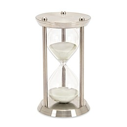 Ridge Road Décor 30-Minute Iron Hourglass in Silver