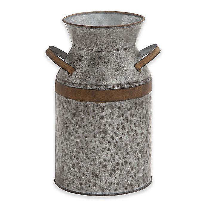 Alternate image 1 for Ridge Road Décor Galvanized Iron Decorative Milk Can in Grey
