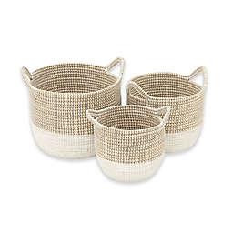 Ridge Road Décor 3-Piece Corded Seagrass Basket Set